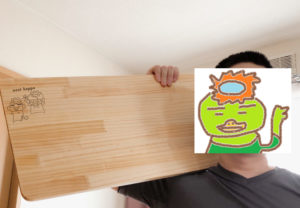 まな板を自作した(パイン集成材)!大きな肉や魚を切るのに便利か?